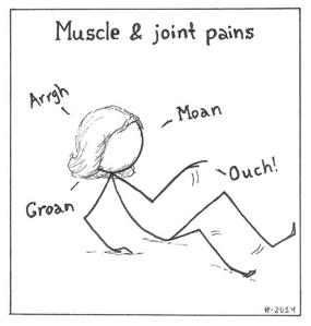 A POTS symptom is muscle and joint pains
